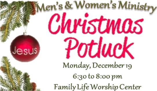 Christmas Potluck.Men S And Women S Ministry Christmas Potluck Fellowship