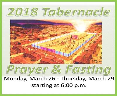 2018 Tabernacle Prayer & Fasting